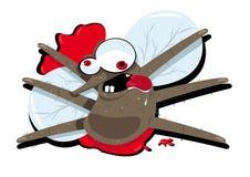 Mosquito de Splatted ilustração stock