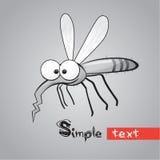 Mosquito divertido ilustración del vector