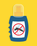 Mosquito free spray. Insects repellent vector bottle. Stock Photography