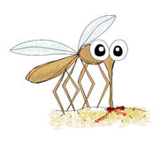 Mosquito, hand drawing  Royalty Free Stock Photo