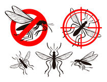 Mosquito icon set. pest control vector illustration Royalty Free Stock Image