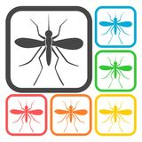 Mosquito icons set Royalty Free Stock Photo