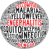 Mosquito infection diseases info text. Graphics and arrangement Stock Photography