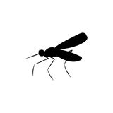 Mosquito insect black silhouette animal. Vector Illustrator.r Royalty Free Stock Photography