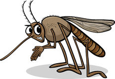Mosquito insect cartoon illustration Stock Photos