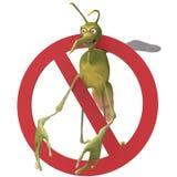 Mosquito malvado anti fotografía de archivo libre de regalías