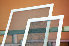 Mosquito nets for plastic windows Stock Photography