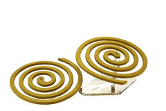 Mosquito repellent incense coils Royalty Free Stock Photography