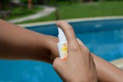Mosquito repellent Stock Photo