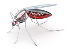Mosquito. Robot bloodsucker Royalty Free Stock Image