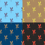 Mosquito seamless pattern. Anopheles mosquito. Textures set with Royalty Free Stock Photography