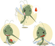 Mosquito set 2. Mosquito Mosquitoes Set I,  illustration cartoon Royalty Free Stock Image