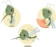 Mosquito set 1. Mosquito Mosquitoes Set,  illustration cartoon Royalty Free Stock Image