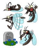 Mosquito set Royalty Free Stock Image