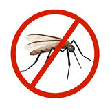 Mosquito silhouettes isolated on white background. Vector mosquito silhouettes. Aegypti flying mosquito. Zika virus transmission. Royalty Free Stock Photo