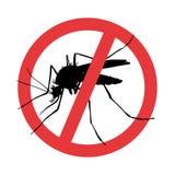 mosquito Sinal de aviso do parasita do símbolo ilustração stock