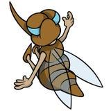 Mosquito Sitting Back. Cartoon Illustration, Vector Royalty Free Stock Photo