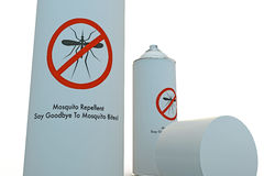 Mosquito spray can Royalty Free Stock Photo