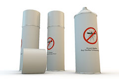 Mosquito spray can. Mosquito repellent spray can  on white background Royalty Free Stock Photos