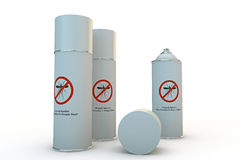 Mosquito spray can. Mosquito repellent spray can  on white background Stock Photos