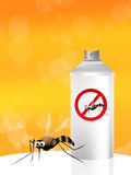Mosquito spray. Nice illustration of a mosquito Stock Images