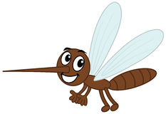 A mosquito sting brown. Illustration Stock Image