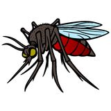 Mosquito. A vector illustration of a Mosquito Royalty Free Stock Photography