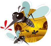 Mosquito. Vector illustration of Cartoon Mosquito vector illustration