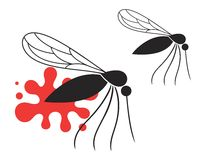 Mosquito. Vector illustration (EPS 10 stock illustration