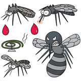 Mosquito. Vector set of mosquito cartoon Stock Photography