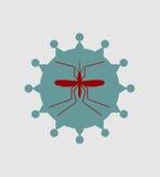 Mosquito and virus icons Stock Photo