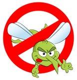 Mosquito warning sign Stock Photo