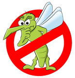 Mosquito warning sign Royalty Free Stock Image