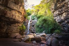 Mosquito Waterfall in Chapada Diamantina - Bahia, Brazil royalty free stock photos