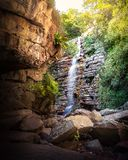Mosquito Waterfall in Chapada Diamantina - Bahia, Brazil royalty free stock photography