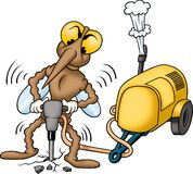 Mosquito worker. High detailed and coloured illustration Stock Photos