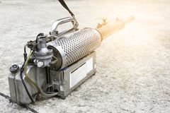 Mosquitoes spraying machine to eliminate mosquitoes that cause dengue.  stock image