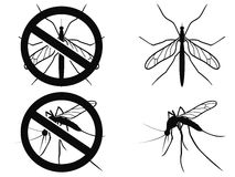 Mosquitoes warning symbol Royalty Free Stock Photography