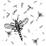 Mosquitos Background Royalty Free Stock Photography