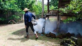 Mosquitos del espray Imágenes de archivo libres de regalías