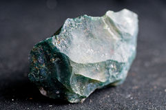 Moss agate crystal. Mineral sample used as a healing stone Stock Photography