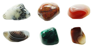 Moss agate crystal quartz mineral geological crystals Stock Image