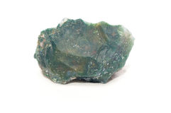 Moss agate mineral. Moss agate crystal mineral sample used as a healing stone Stock Image