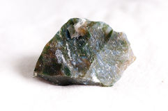 Moss agate uncut crystal Royalty Free Stock Photos