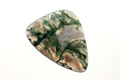 Moss agate. On on white background isolated royalty free stock image
