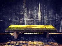 Moss Bench royalty free stock photography
