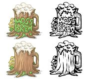 Moss brew logo. Icon art vector illustration