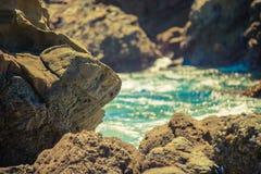 Moss Cove Laguna Beach Arkivbild