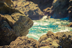 Moss Cove, Laguna Beach. Laguna Beach, California The rocks and tidepools of Laguna Beach Stock Photography