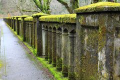 Moss Covered Bridge Royalty Free Stock Images